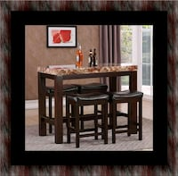 5pc Pub table with 4 stools 50 km