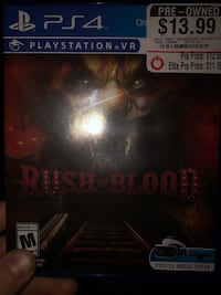 Sony ps4 blood of rush Martinsburg, 25401