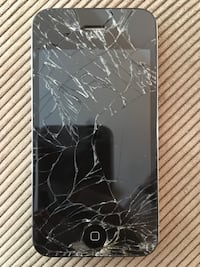 cracked space gray iPhone 6
