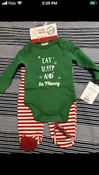 Brand New Infant 0-3 Month 3Pc Christmas Outfit $10  Trenton, K8V 2X4