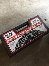 Cable link tire chains