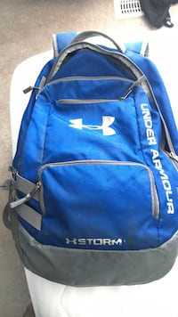 blue and gray Under Armour Storm backpack Calgary, T2Z 4L6