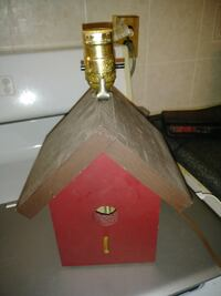 Hand Made Birdhouse Lamp