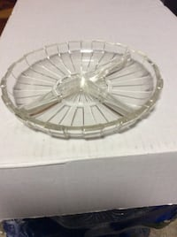 """JUST REDUCED MORE glass plate 6 1/2"""" round  Rockville"""