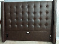 tufted black leather bed headboard Seattle