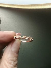 Size 8 rose gold and lab diamond leaf theme ring Edmonton, T6A 2E4