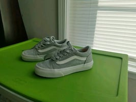 pair of gray Girls Glitter Van Shoes like new