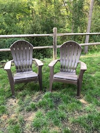 two brown plastic adirondack chairs Wappingers Falls, 12590