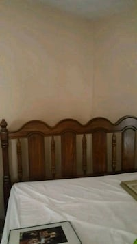 brown wooden bed headboard and footboard Herndon, 20192