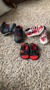 toddler's three pairs of shoes Bridgewater, 02324