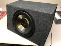 Alpine sub and diamond subwoofer with enclosure