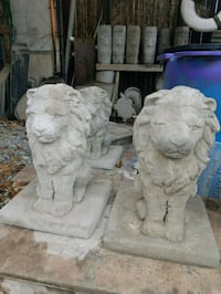 20inch tall concrete lion statues $40for both Berkeley Township, 08721