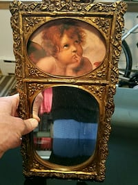 Cherub Angel Picture and Mirror with nice frame stand Skokie, 60077
