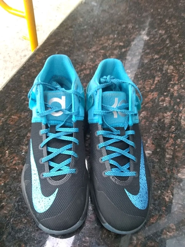 Nike KD TREY 5 IV Black Blue Glow  [PHONE NUMBER H