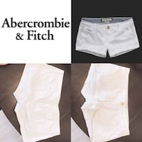Size O/ XS WHITE ABERCROMBIE & Fitch shorts