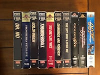 James Bond VHS collection - Make an offer! I have over 700 tapes, if ur looking for something, ask!