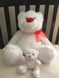 Two white and brown bear plush toys Toronto, M4A