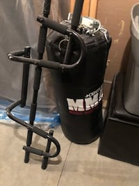 Punching bag and pull up bar
