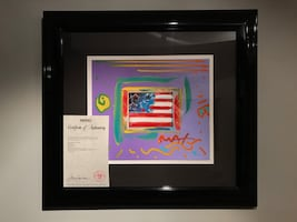 Peter Max - Flag With Heart Collage