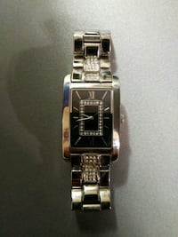 Stainless steel watch with cz stones