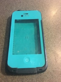Turquoise iPhone 4/4s life proof case