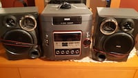 Gray and black stereo