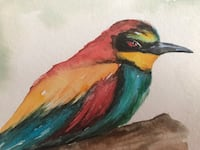 Bird original watercolor 4x6 in. It can turn to 5x7 Folded greeting card  Los Angeles, 91367