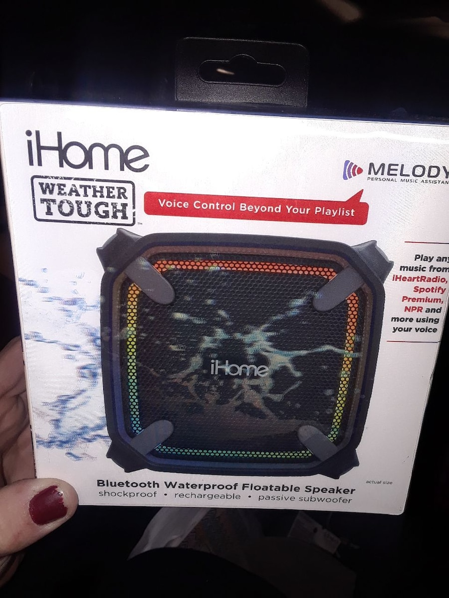 used black ihome weather tough portable speaker box for sale in rh us letgo com