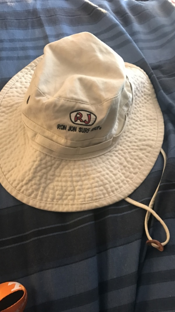 Used Whtie and black ron jon surf embroidered bucket hat for sale in ... 6bf98328b00