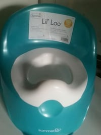 baby's blue and white Bumbo floor seat London, N6E 2M5