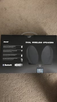 Brand new never opened I world Bluetooth stereo speakers
