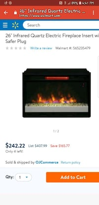 Infrared Fireplace Insert Woodbridge, 22193