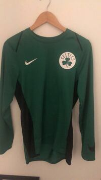 boston celtics dri fit Long Sleeve Pull Over