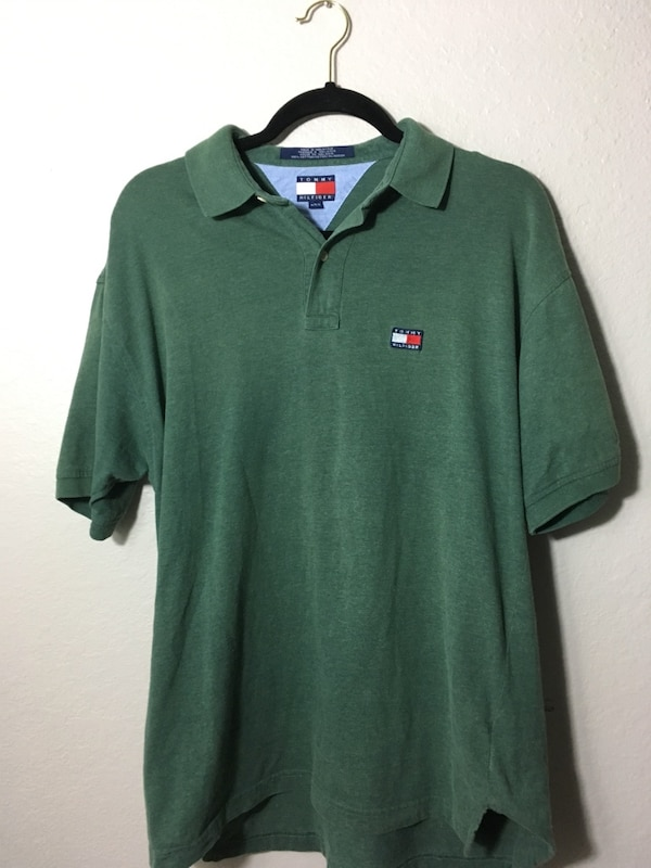 75942d836 Used Vintage Tommy Hilfiger patch size medium polo shirt for sale in  Orlando - letgo