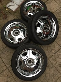 "18"" ROX Chrome Wheels 5x114.3 5x120 Silver Spring, 20904"