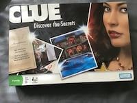 New in shrinkwrap Parker Brothers CLUE Discover the Secrets Board Game Chesapeake, 23320