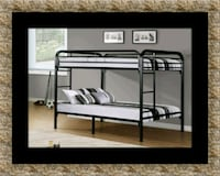 Twin bunkbed frame with 2 mattress