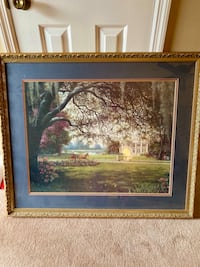 Beautiful Large Plantation Photo with frame / Wall Art - Decor
