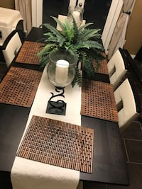 White and black wooden table