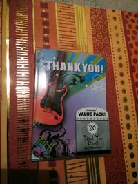 20 rock and roll themed thank you cards  Summerville