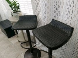 New Wicker Adjustable chair/stool set of 2