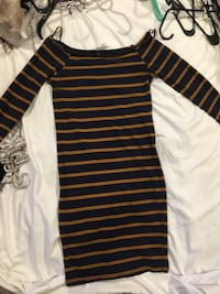 black and white striped long-sleeved dress Port Jefferson, 11777