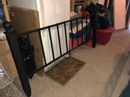 King size bed (Head and footboard, frame, and box spring)