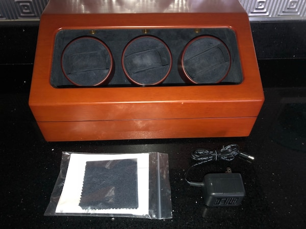 Solid wood Upscale Time WW-004 Watch Winder NEW MSRP $200 take it home for $40!!