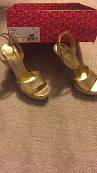 pair of brown leather open-toe ankle strap heels 18 mi