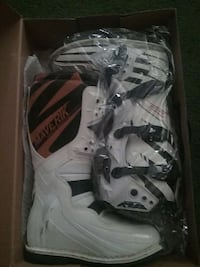 Brand new white and black racing boots Palmdale
