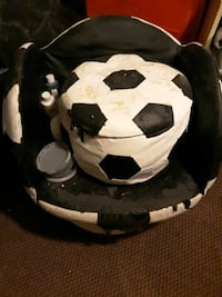 Soccer chair & ottoman (needs refurbish)