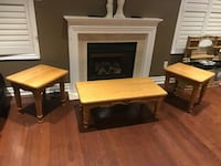 Very solid coffee table and two side tables in great condition  Brampton, L7A