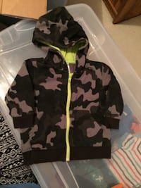 Black and gray camouflage zip-up hoodie Montréal, H3S