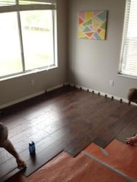 Hardwood laminate tile painting  Sterling